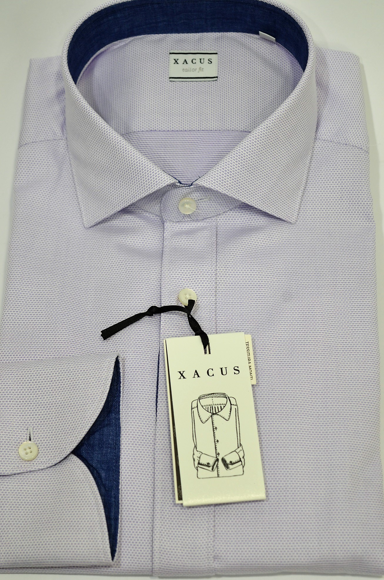 7655d260d6ea XACUS Camicia Uomo 21911002 Mod.Tailor Vestibilita  Intemedia cotone e lino