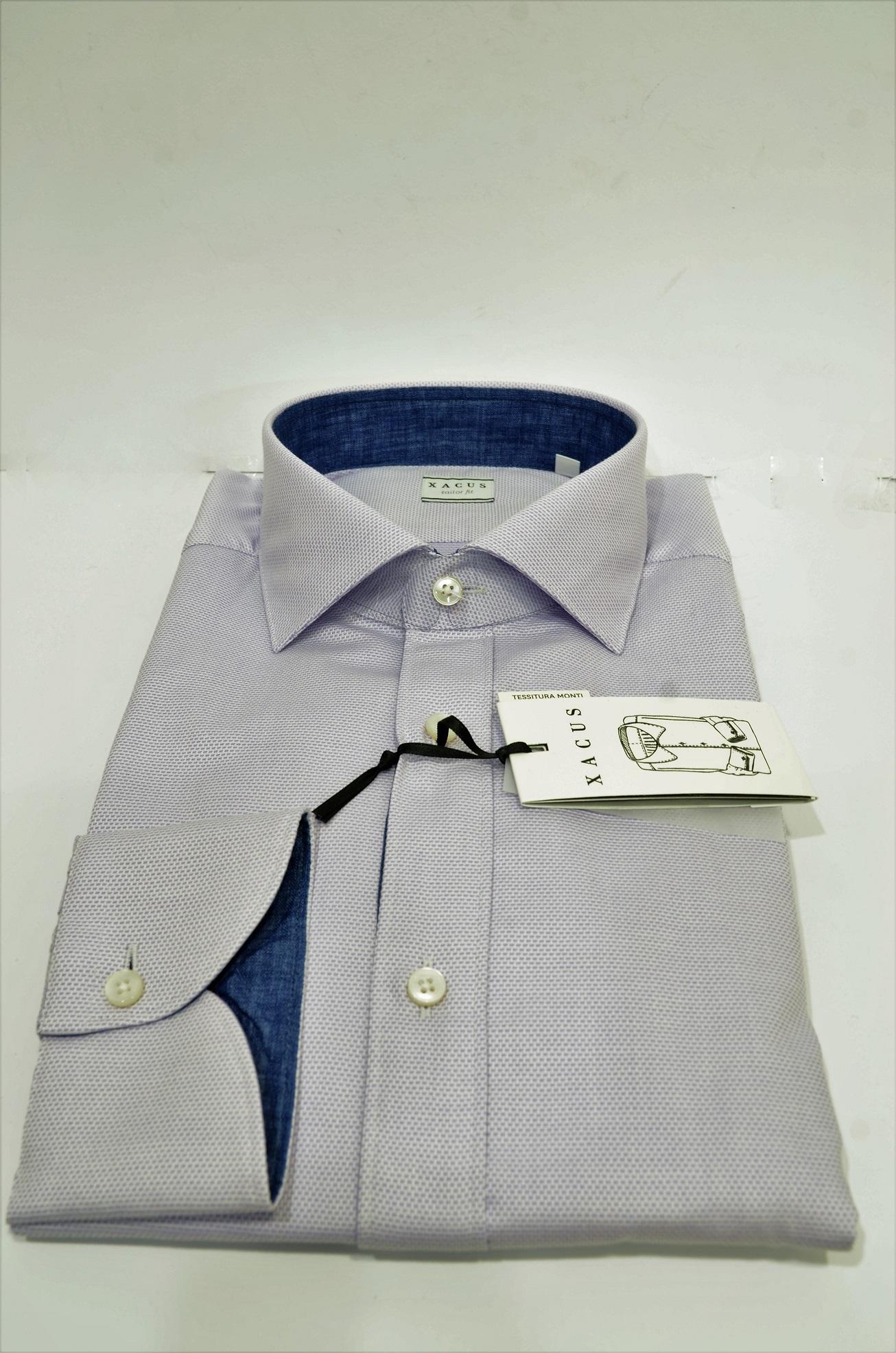 1546a8e4d17f ... XACUS Camicia Uomo 21911002 Mod.Tailor Vestibilita   Intemedia cotone e  lino