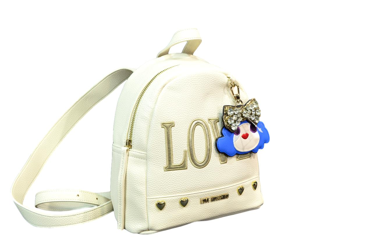 LOVE MOSCHINO BORSA ZAINETTO DONNA PEBBLE PU AVORIO JC4254PP07KH0110
