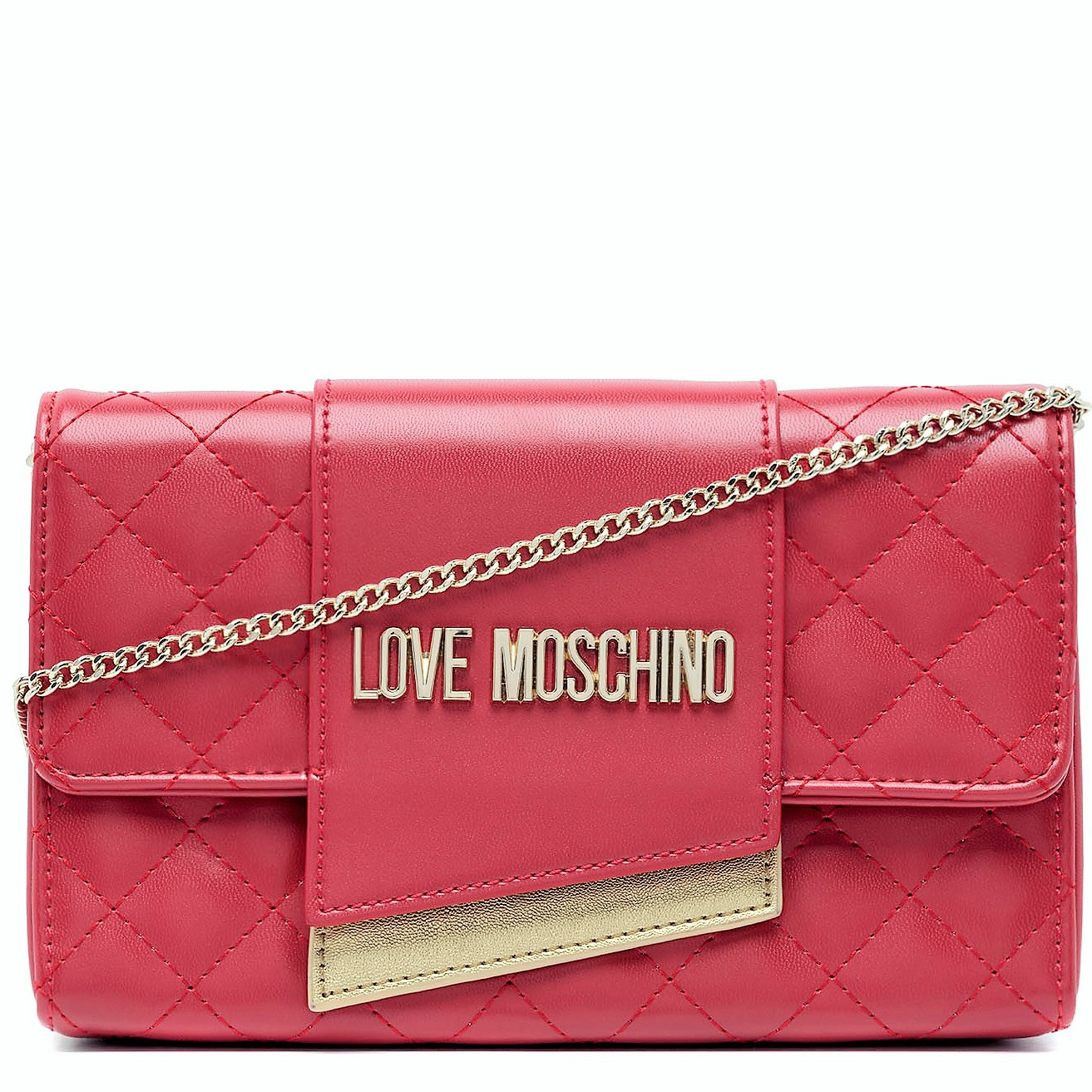LOVE MOSCHINO BORSA DONNA QUILTED NAPPA PU ROSSO JC4295PP07KA0110 TRACOLLINA