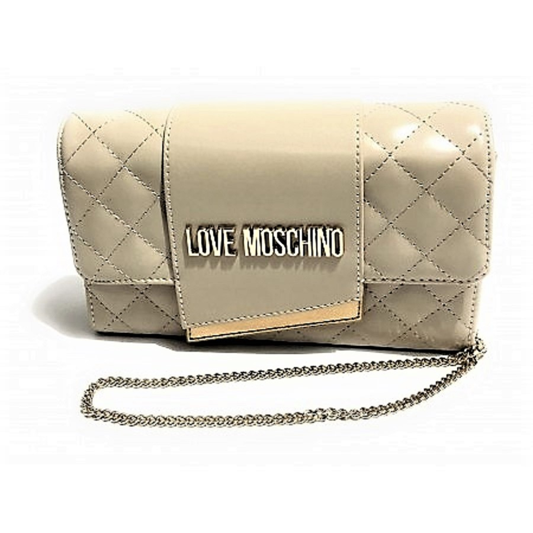 LOVE MOSCHINO BORSA DONNA QUILTED NAPPA PU AVORIO JC4295PP07KA0110 TRACOLLINA