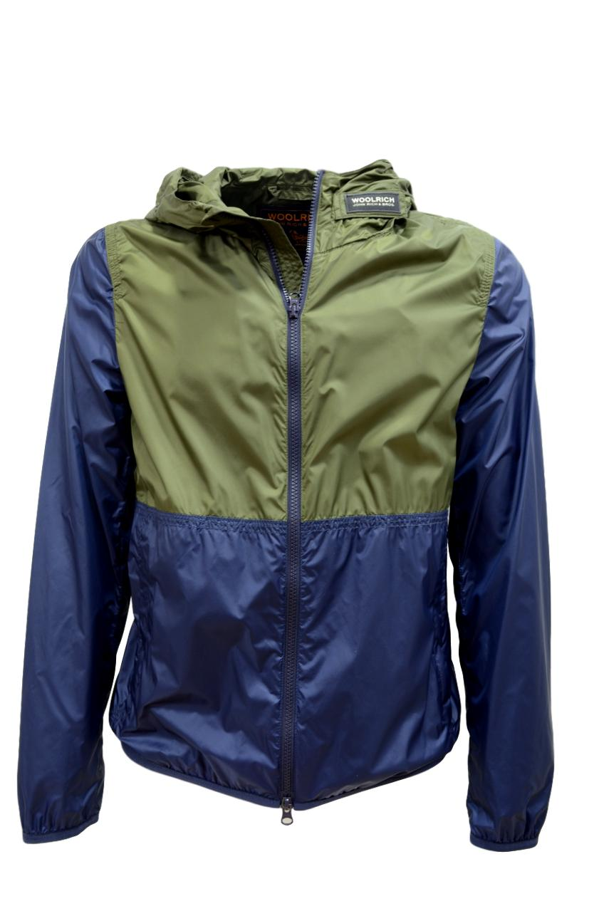 WOLRICH South Bay Windbreaker WOCPS2826 UT1567 DARK GREEN