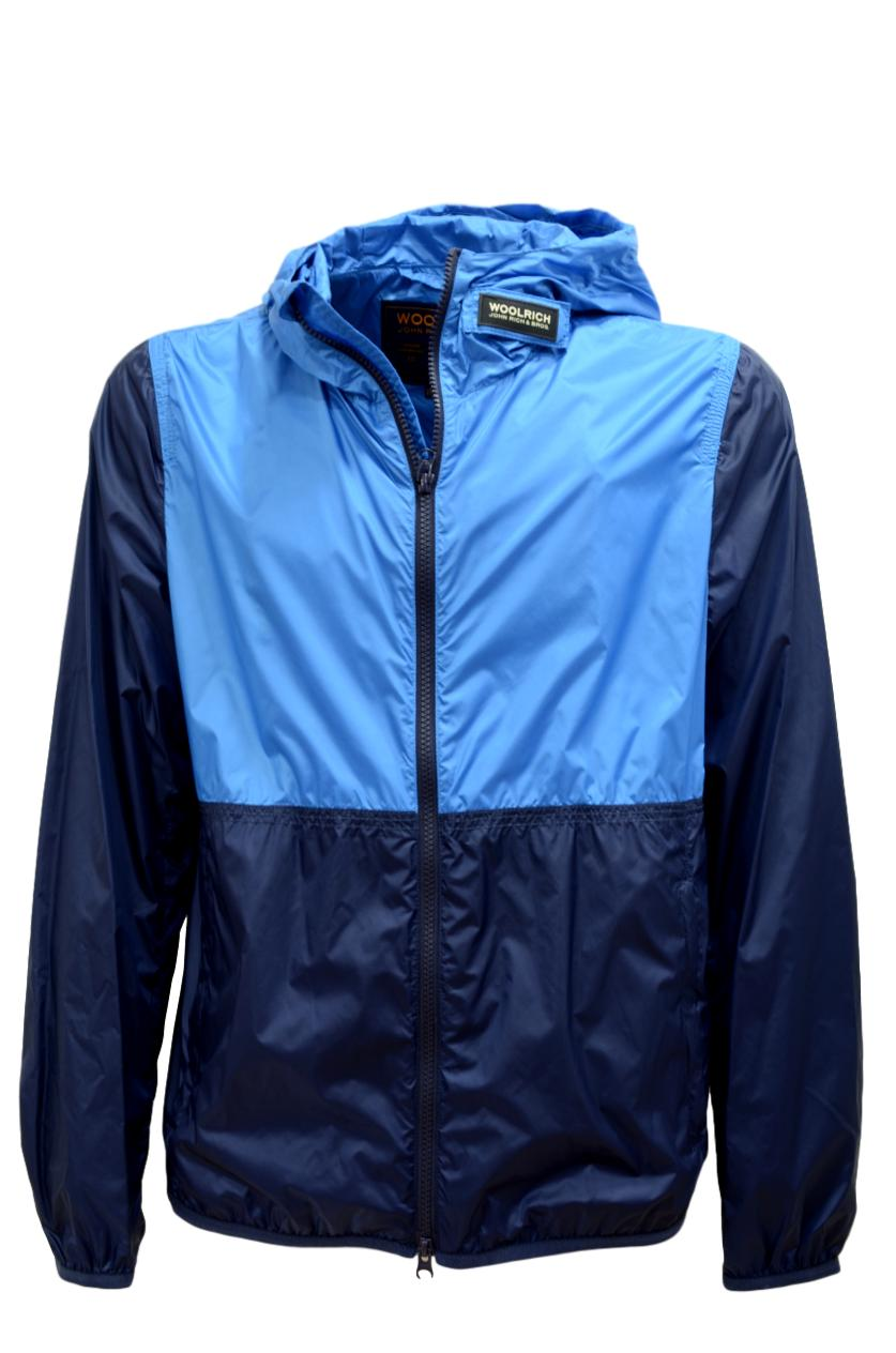WOLRICH South Bay Windbreaker WOCPS2826 UT1567 MEDITERRANEAN BLUE