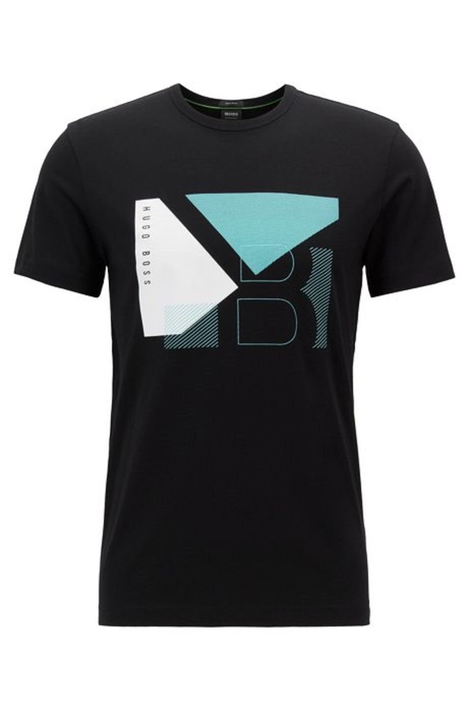 HUGO BOSS T-shirt regular fit in cotone grafica a blocchi BLACK Tee 2 50404402