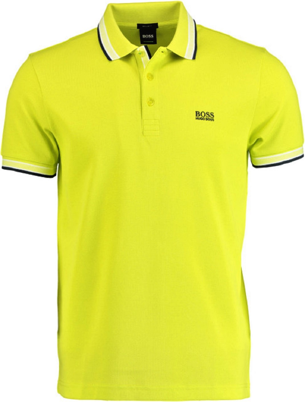 HUGO BOSS Polo regular fit 3 bottoni GIALLO LIMONE Modello Paddy 50398302 732
