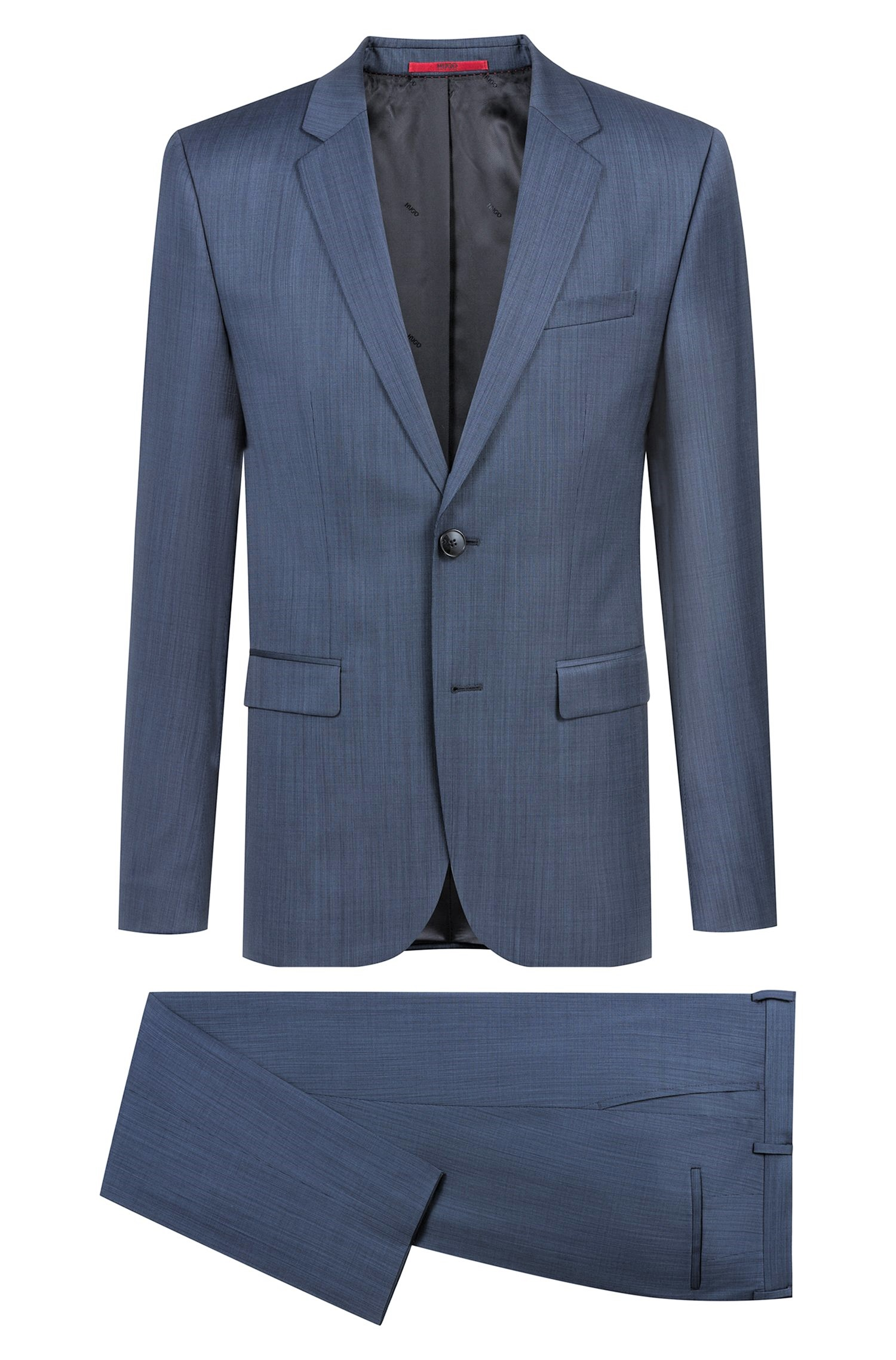 HUGO BOSS Abito extra slim fit in misto lana BLUE Astian/Hets184 50405559